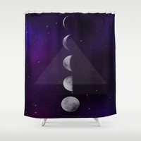 Moon Down Shower Curtain by DuckyB (Brandi)