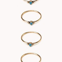 Delicate Midi Ring Set
