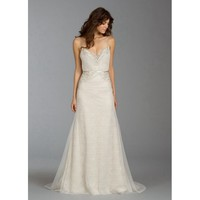 Noble Sweep Mermaid V-neckline Backless Lace Wedding Dress