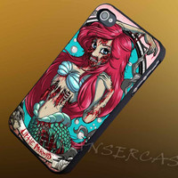 Ariel The Little Mermaid Zombie (Walt Disney Princess) - iPhone 4/4s/5c/5s/5 Case - Samsung Galaxy S3/S4 Case - Black or White