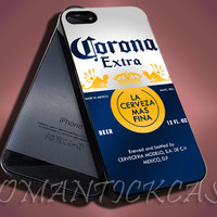 Corona Extra Mexican Beer - iPhone 4/4s/5c/5s/5 Case - Samsung Galaxy S3/S4 Case - Black or White