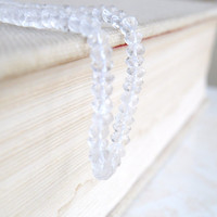 Rock Crystal Quartz Gemstone Clear Micro Faceted Israeli Cut Rondelle 4mm Full strand Wholesale
