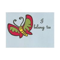 I Belong to, 1/pkg Woven Label, Premade sewing, quilting, sewing labels