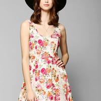 Band Of Gypsies Lace Godet Silky Tank Dress - Urban Outfitters