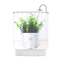 Pixel Plant Shower Curtain