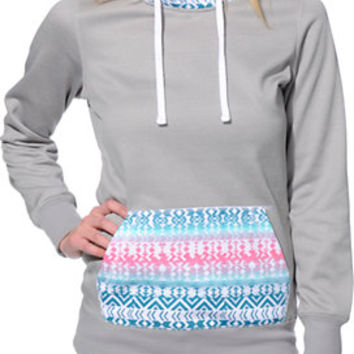 Empyre Frostier Grey Tribal Pullover Tech Fleece Jacket