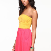 COLOR BLOCK JERSEY POCKET DRESS