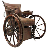 Victorian Mahogany Wheel Chair