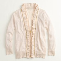 Factory scalloped zipper cardigan