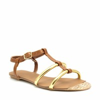 Strappy Reptile Tip Sandals