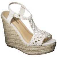 Women's Mossimo Supply Co. Waneta Macramé Wedge Sandal - Assorted Colors
