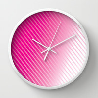 Blushing Streaks Wall Clock by Texnotropio