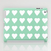 16 Hearts Mint iPad Case by Project M