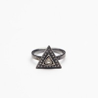 Free People Diamond Triangle Ring