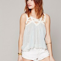 Free People FP ONE Latticed Lurex Tank