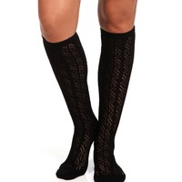 Promo-Black Knee High Socks