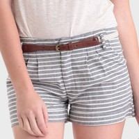 Washed Ashore Striped Shorts