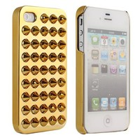 Brightdeal Punk Style Electroplating 3D Spike Rivet Studs Back Case Compatible for iPhone 5 5S (Golden)