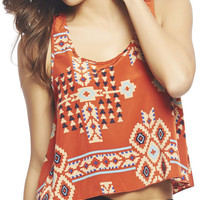 Aztec Lattice Back Tank | Wet Seal