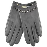 WARMEN Punk Rock Women Genuine Soft Leather Driving Performance Gloves With Rivet