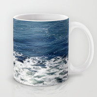 Mystic Blue Sea Mug by Lisa Argyropoulos