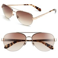 kate spade new york 57mm aviator sunglasses | Nordstrom