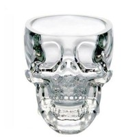 BestOfferBuy 74ml Small Crystal Doomed Skull Head Vodka Shot Glass Cup Transparent