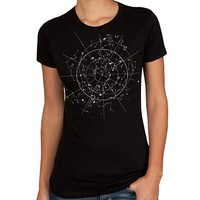 Celestial Night Sky T-Shirt - Ladies