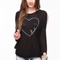 LOVE BURNOUT KNIT TEE