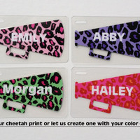 All Star Cheer Bag Tag Cheer Bag Tag Kids Bag Tag Cheetah Cheerleading Party Favors Cheerleading Squad Gift