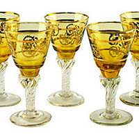 Yellow & Gold Cordials, S/5
