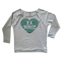 Mermaid Green Grunge Sweatshirt