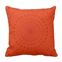 Blood orange energy burst pillow