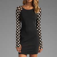 One Teaspoon Rose of Heart Polka Dress in Black from REVOLVEclothing.com