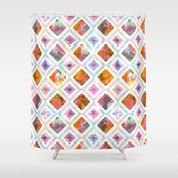 Aztec Sunrise Shower Curtain by Schatzi Brown
