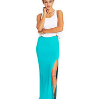 Material Girl Juniors' High-Slit Maxi Skirt