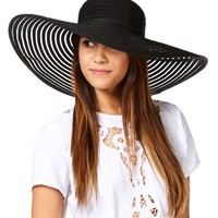Black Mesh Derby Hat