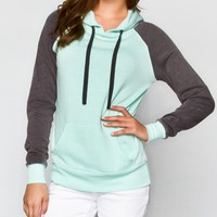 Full Tilt Color Block Womens Hoodie Mint  In Sizes