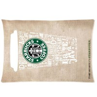 Brand New Starbucks Coffee Rectangle One Pillow Case 20x30 (one side) Comfortable For Lovers And Friends