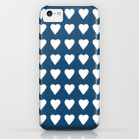 64 Hearts Navy iPhone & iPod Case by Project M