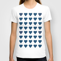 64 Hearts Navy T-shirt by Project M