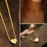 Dainty Heart Necklace in Gold, Silver or Rose Gold from P.S. I Love You More Boutique