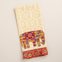 GOLD ELEPHANT DECORATIVE TEA TOWEL