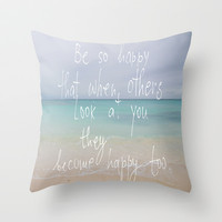 be so happy Throw Pillow by Marianna Tankelevich