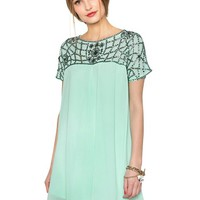 Mint Bejeweled Dress