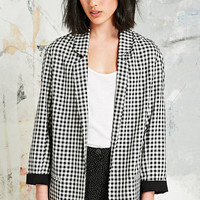 Cooperative Blazer in Gingham - Urban Outfitters