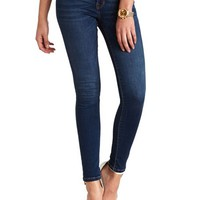 "REFUGE MEDIUM WASH ""SKIN TIGHT"" DENIM LEGGINGS"