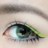 NEO Lucky Clover Green Circle Lens Color Contacts