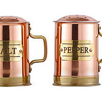 Copper Salt & Pepper Shaker SetOLD DUTCH