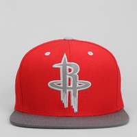 Mitchell & Ness XL Reflective Two-Tone Houston Snapback Hat - Urban Outfitters